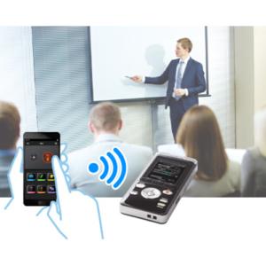 WiFi-styrning av inspelning på möte med app i mobilen